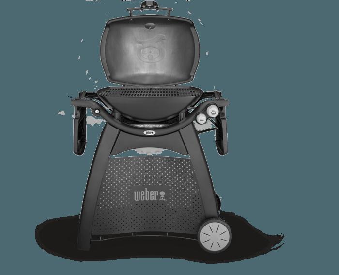Weber® Q 3200 (čierny) (so šuflíkom, tep. štítom a roštom)